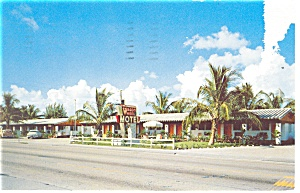 Hollywood Fl Wagon Wheel Motel Postcard P11708 1957