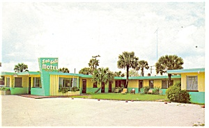 Daytona Beach Fl Sea Gate Motel Postcard P11716