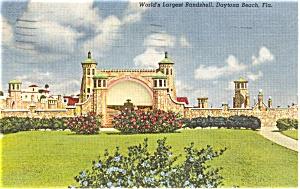 Bandshell Daytona Beach Florida   Postcard p1175 (Image1)