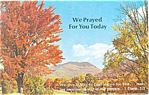 We Prayed for you Today, 1 Thess 1:2 Postcard 1979 (Image1)