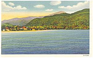 Mirror Lake,Lake Placid, NY Adirondack Mts  Postcard p11787 (Image1)