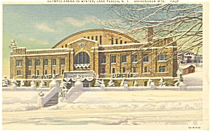 Olympic Arena Lake Placid NY  Postcard p11788 1938 (Image1)