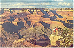 Mather Point View Grand Canyon National Park  AZ  Postcard p11789 1969 (Image1)
