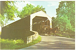Fry's Mill Bridge,Lancaster County,PA  Postcard (Image1)