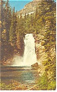 Trick Falls Glacier National Park MT Postcard p11794 1971 (Image1)