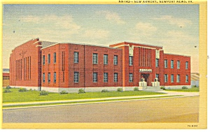 Newport News, VA, New Armory Postcard 1957 (Image1)