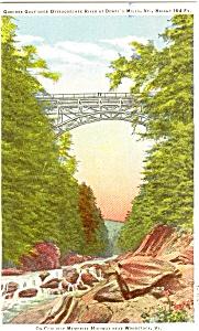 Quechee Gulf  Dewey's Mills VT Postcard (Image1)