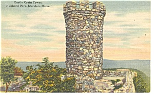 Meriden Ct Castle Craig Tower Postcard P11852