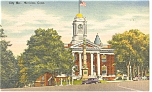 Meriden CT City Hall Postcard p11853 (Image1)