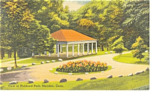 Meriden, CT, View in Hubbard Park Postcard (Image1)