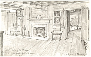 Fitch House Parlor Old Sturbridge Village MA Postcard p11872 (Image1)