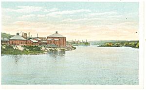 Amsterdam NY Mohawk River Postcard p11900 (Image1)