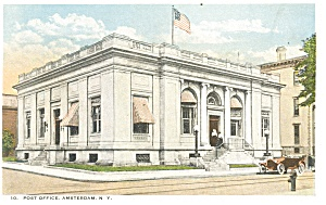 Amsterdam,NY Post Office Postcard (Image1)