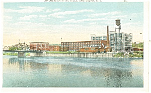 Amsterdam NY Chalmers Knitting Mills Postcard p11903 (Image1)