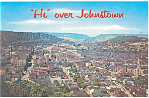 Johnstown,PA, Panoramic View Postcard (Image1)