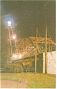 Johnstown PA  Inclined Plane at Night Postcard p11908 (Image1)