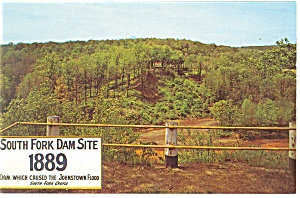 Johnstown PA South Fork Dam Site Postcard p11911 (Image1)