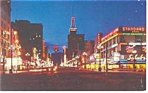 Salt Lake City,UT Main Street Night Postcard (Image1)