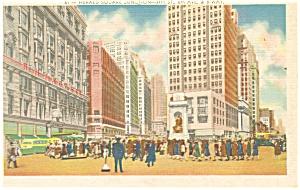 Herald Square Junction Street Scene New York City Postcard p11964 (Image1)