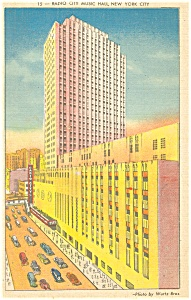 Radio City Music Hall New York City Postcard p11975 (Image1)