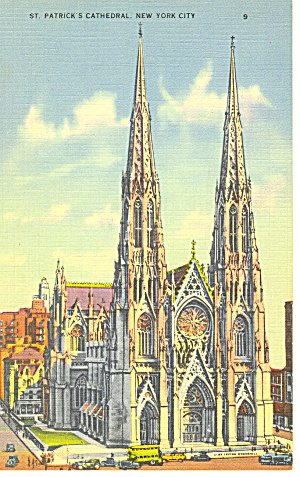 St Patrick S Cathedral New York City Postcard P11978 1939