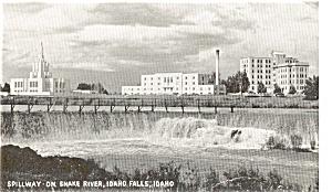 Idaho Falls Idaho Spillway  Postcard (Image1)