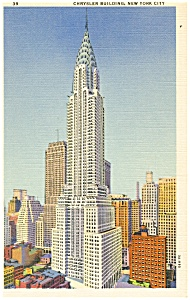 Chrysler Building,New York City Postcard (Image1)