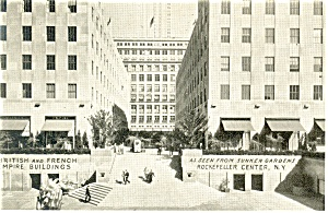 British and French Empire Buildings New York City Postcard p11990 (Image1)