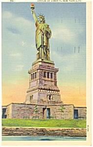Statue of Liberty New York City Postcard p11996 1947 (Image1)