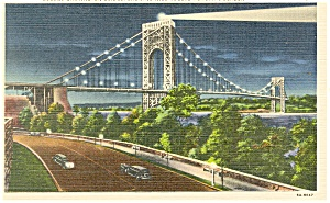 George Washington Bridge New York City Postcard p11997 (Image1)