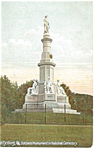 Soldier s National Monument Gettysburg PA Postcard p12013 (Image1)