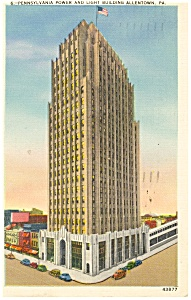 Allentown, PA , Pennsylvania Pwr Light Bldg Postcard (Image1)