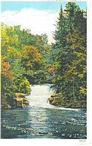 Winona Falls PA View of the 3rd Falls Postcard p12016 1937 (Image1)