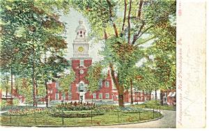Philadelphia PA Independence Hall Postcard p12037 ca 1907 (Image1)
