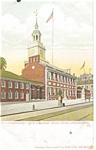 Philadelphia PA Independence Hall Postcard p12038 ca 1906 (Image1)