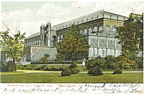 Philadelphia PA Fairmont Park Postcard p12039 1907 (Image1)