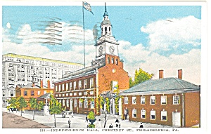 Philadelphia PA Independence Hall Postcard p12041 ca 1934 (Image1)