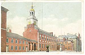 Philadelphia PA Independence Hall Postcard p12042 ca 1917 (Image1)