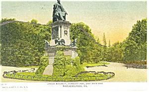 Philadelphia PA Lincoln Monument Postcard p12057 1906 (Image1)
