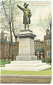 Philadelphia PA Barry Statue Postcard p12059 ca 1910 (Image1)