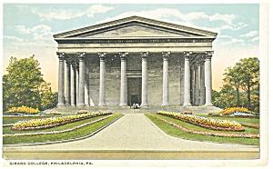 Philadelphia PA Girard College Postcard p12062 1921 (Image1)