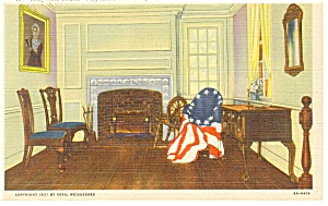 Philadelphia PA Betsy Ross House Interior Postcard p12066 (Image1)