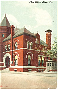 York ,PA, Post Office  Postcard (Image1)
