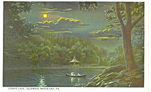 Delaware Water Gap, PA, Lake Lenape Postcard 1926 (Image1)