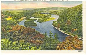 Delaware Water Gap, PA, Delaware River Postcard (Image1)