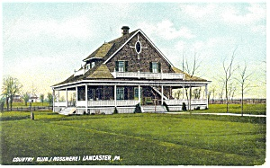 Lancaster Pa Country Club Rossmere Postcard P12097