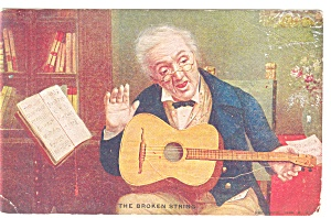 The Broken String Postcard 1908