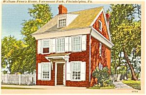 Philadelphia PA William Penn Home Postcard p1211 (Image1)