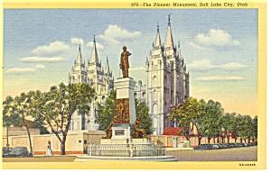 Pioneer Monument Salt Lake City Utah Postcard p12120 (Image1)