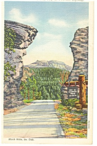 Harney Peak,Mt Rushmore Hwy, SD Postcard 1944 (Image1)